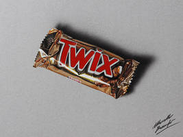 Twix bar DRAWING by Marcello Barenghi by marcellobarenghi