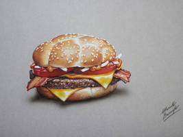#MyBurger 2: McHeaton DRAWING by Marcello Barenghi by marcellobarenghi