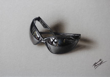 Customized sunglasses DRAWING by Marcello Barenghi by marcellobarenghi