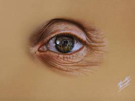 Leonardo Pereznieto's eye DRAWING by M. Barenghi by marcellobarenghi