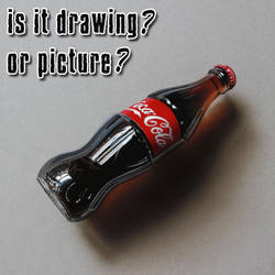 Coke bottle DRAWING by Marcello Barenghi by marcellobarenghi