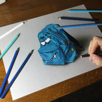 Drawing of a cool rucksack by marcellobarenghi
