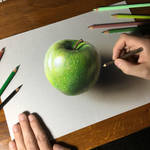 Apple Drawing by marcellobarenghi