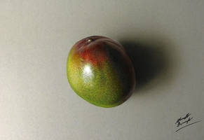 Drawing Mango Hyperrealism by marcellobarenghi