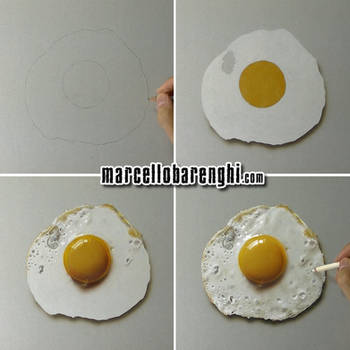 Fried Egg Drawing step by step by marcellobarenghi