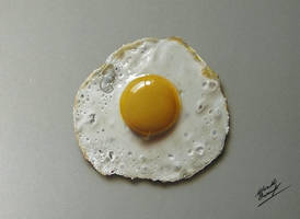 Drawing fried egg by marcellobarenghi