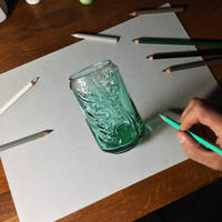 Drawing Coca-Cola Green Glass by marcellobarenghi