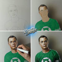 Drawing Jim Parsons as Sheldon Cooper by marcellobarenghi