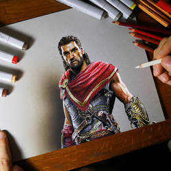 Drawing Alexios - Assassin's Creed Odyssey by marcellobarenghi
