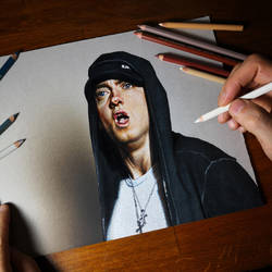 Eminem Portrait by marcellobarenghi