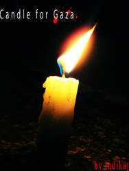 Candle for Gaza by indikat