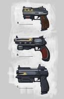 Hand guns by 152mm