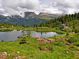 Lake at Colbricon by Sergiba