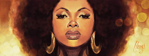Afro Gold by bbluyei