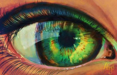 Green Eye by bbluyei