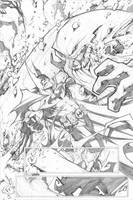 batman page 1 by Sandoval-Art