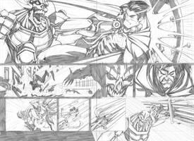 SUPERMAN VS METALLO by Sandoval-Art