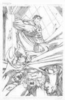 SUPERMAN BATMAN by Sandoval-Art