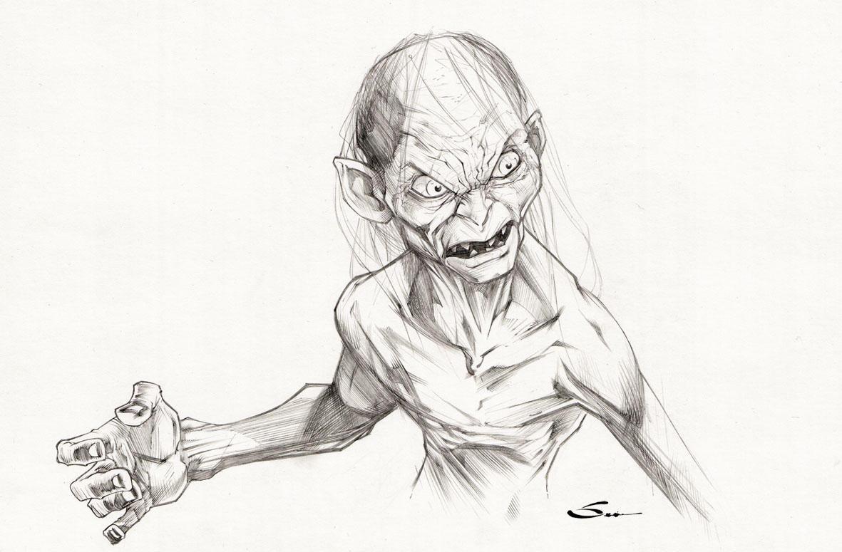 Gollum by Sandoval-Art