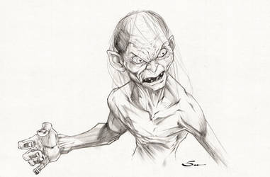 Gollum by Sandoval-Art