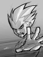 VEGETA SKETCH VIDEO TUTORIAL-- by Sandoval-Art