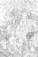 WHAT IF: AVENGERS VS X-MEN 3 PAGE 20 PENCILS by Sandoval-Art