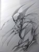 WOLVERINE SKETCH! by Sandoval-Art