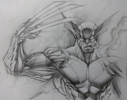 Wolverine sketch-- by Sandoval-Art