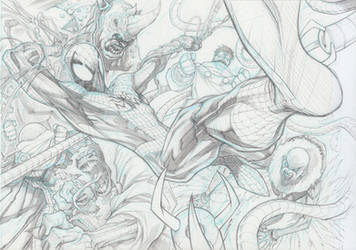 Spiderman Foes by Sandoval-Art