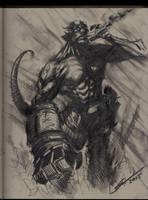 Hellboy Sketch! by Sandoval-Art