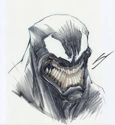 Venom Sketch by Sandoval-Art