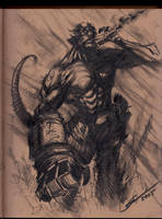 HELLBOY SKETCH by Sandoval-Art