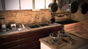 Messy Kitchen by jesse