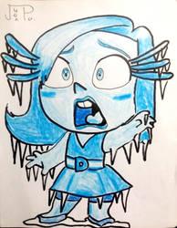 Pixar - Brain Freeze Disgust by JuanpaDraws