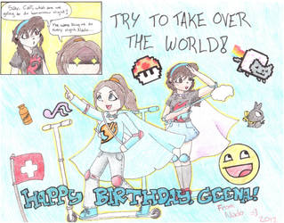 Happy Birthday Cali! (Taking Over The World) by Nado13579