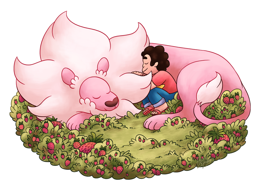 Sometimes I think about Steven and Lion taking naps together (shhh I know the connotation behind the Strawberry Battlefield but I also like to imagine Steven goes there with Lion often to think abo...