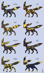 Pokemon Variations: Umbreon by Virize