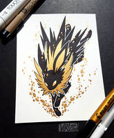 Gilded Eeveelutions Series: Jolteon by Virize