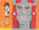 Kirk Fogg and Olmec in The Loud House Styles by matiriani28
