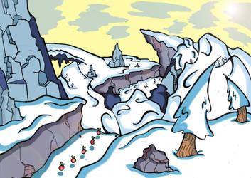 snow valley by cybercortex