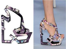 metallic shoes by ixah0827