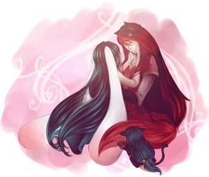Mae + Luna by wind-hime-kaze