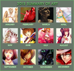 2013 Summary Of Art by wind-hime-kaze