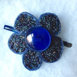 Azure Bloom Barrette by Kefrith