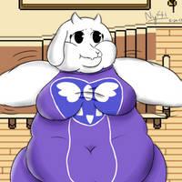 Fat Waddling Goat Mom by NynouArt