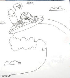 surfing worm by chelt