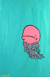 grumpy jellyfish by chelt