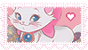 Disney Aristocats Marie Stamp by BelievingIsSeeing