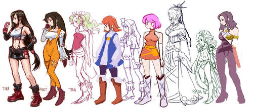 Update:WIP:Final Fantasy Girls by zerohime