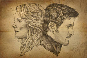 Once upon a time - Emma and Hook by Alexial-kun